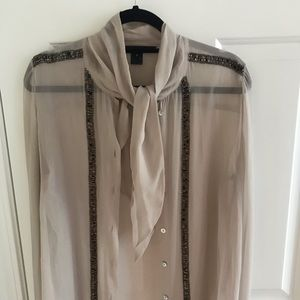 French Connection Sheer Top
